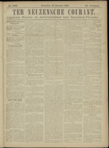 Ter Neuzensche Courant. Algemeen Nieuws- en Advertentieblad voor Zeeuwsch-Vlaanderen / Neuzensche Courant ... (idem) / (Algemeen) nieuws en advertentieblad voor Zeeuwsch-Vlaanderen 1920-01-24