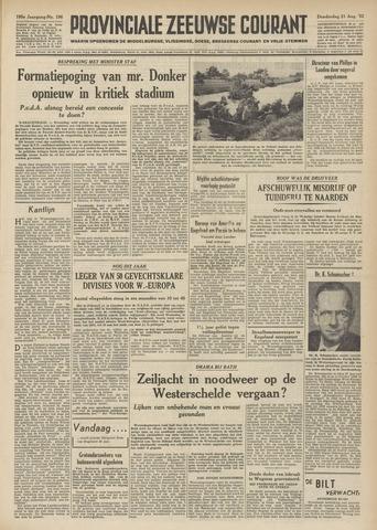 Provinciale Zeeuwse Courant 1952-08-21