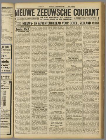 Nieuwe Zeeuwsche Courant 1927-09-10