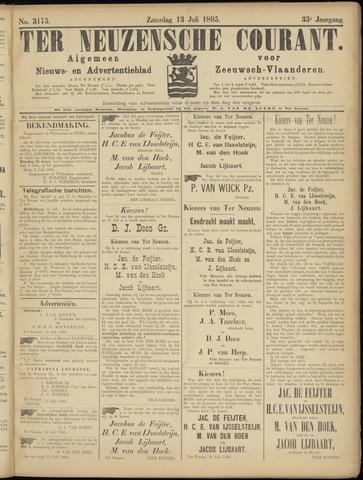 Ter Neuzensche Courant. Algemeen Nieuws- en Advertentieblad voor Zeeuwsch-Vlaanderen / Neuzensche Courant ... (idem) / (Algemeen) nieuws en advertentieblad voor Zeeuwsch-Vlaanderen 1895-07-13