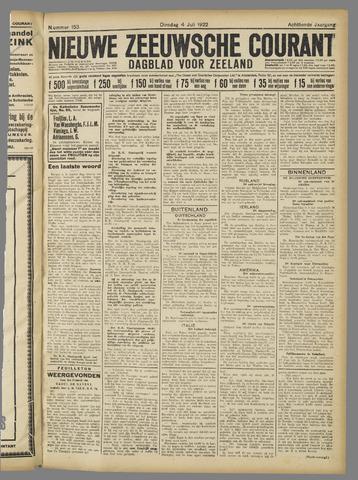 Nieuwe Zeeuwsche Courant 1922-07-04