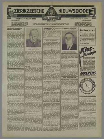 Zierikzeesche Nieuwsbode 1940-03-26