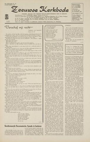 Zeeuwsche kerkbode, weekblad gewijd aan de belangen der gereformeerde kerken/ Zeeuwsch kerkblad 1968-09-12