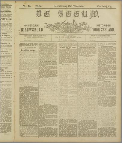 De Zeeuw. Christelijk-historisch nieuwsblad voor Zeeland 1906-11-22