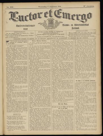 Luctor et Emergo. Antirevolutionair nieuws- en advertentieblad voor Zeeland / Zeeuwsch-Vlaanderen. Orgaan ter verspreiding van de christelijke beginselen in Zeeuwsch-Vlaanderen 1914-08-05