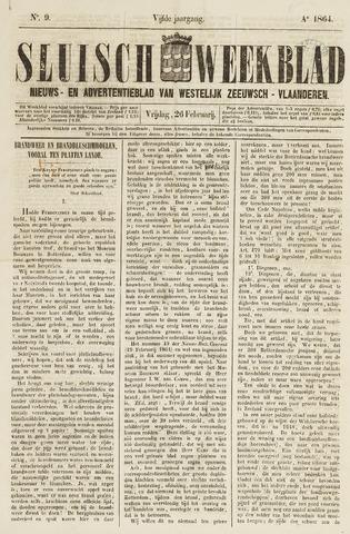 Sluisch Weekblad. Nieuws- en advertentieblad voor Westelijk Zeeuwsch-Vlaanderen 1864-02-26