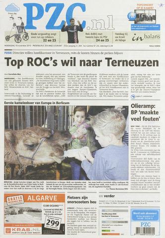 Provinciale Zeeuwse Courant 2010-11-10