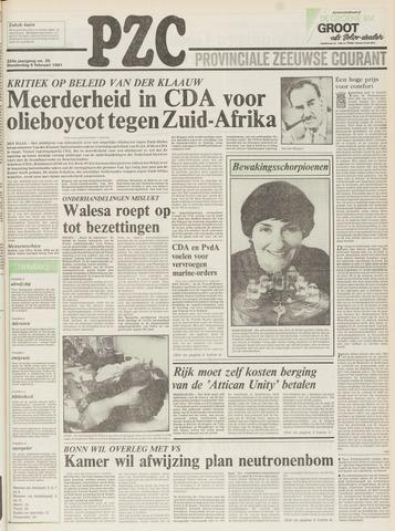 Provinciale Zeeuwse Courant 1981-02-05