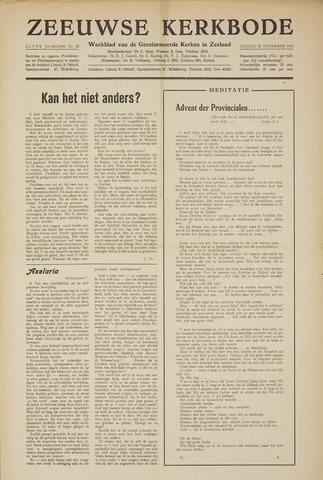 Zeeuwsche kerkbode, weekblad gewijd aan de belangen der gereformeerde kerken/ Zeeuwsch kerkblad 1955-11-25
