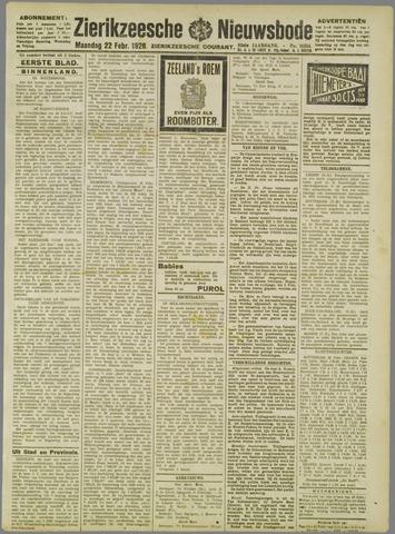 Zierikzeesche Nieuwsbode 1926-02-22