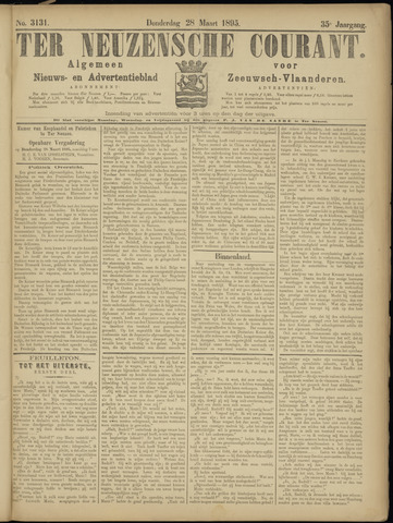 Ter Neuzensche Courant. Algemeen Nieuws- en Advertentieblad voor Zeeuwsch-Vlaanderen / Neuzensche Courant ... (idem) / (Algemeen) nieuws en advertentieblad voor Zeeuwsch-Vlaanderen 1895-03-28