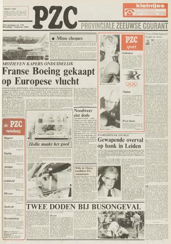Provinciale Zeeuwse Courant 1984-08-01