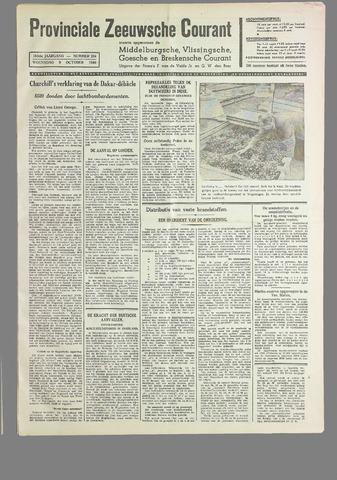 Provinciale Zeeuwse Courant 1940-10-09