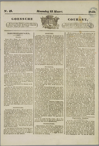 Goessche Courant 1849-03-12