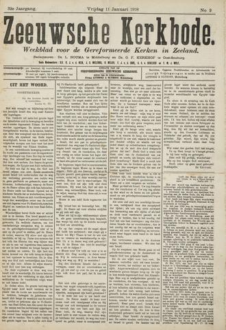 Zeeuwsche kerkbode, weekblad gewijd aan de belangen der gereformeerde kerken/ Zeeuwsch kerkblad 1918-01-11