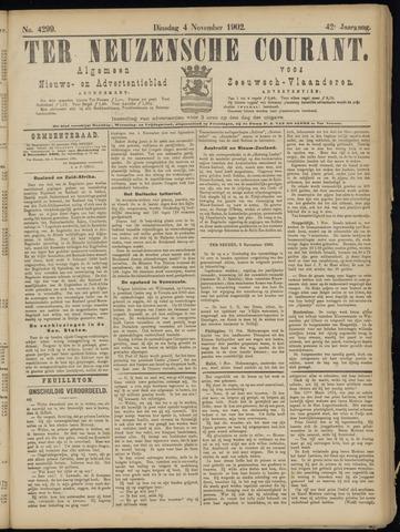 Ter Neuzensche Courant. Algemeen Nieuws- en Advertentieblad voor Zeeuwsch-Vlaanderen / Neuzensche Courant ... (idem) / (Algemeen) nieuws en advertentieblad voor Zeeuwsch-Vlaanderen 1902-11-04
