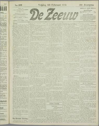 De Zeeuw. Christelijk-historisch nieuwsblad voor Zeeland 1917-02-23