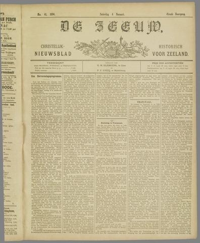 De Zeeuw. Christelijk-historisch nieuwsblad voor Zeeland 1896-01-04
