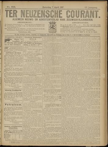 Ter Neuzensche Courant. Algemeen Nieuws- en Advertentieblad voor Zeeuwsch-Vlaanderen / Neuzensche Courant ... (idem) / (Algemeen) nieuws en advertentieblad voor Zeeuwsch-Vlaanderen 1917-04-07