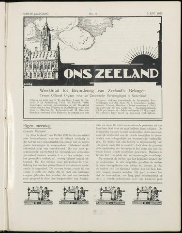 Ons Zeeland / Zeeuwsche editie 1926-06-05