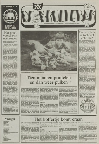 Provinciale Zeeuwse Courant katern Krullenbak (1981-1999) 1988-07-12