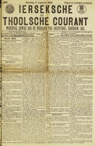 Ierseksche en Thoolsche Courant 1913-08-09