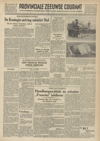 Provinciale Zeeuwse Courant 1952-08-23