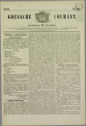 Goessche Courant 1852-11-25