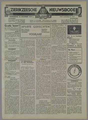Zierikzeesche Nieuwsbode 1937-12-23