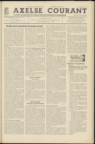 Axelsche Courant 1967-04-22