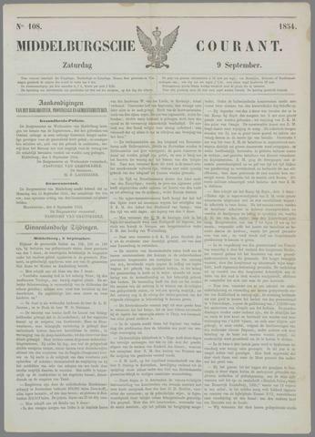 Middelburgsche Courant 1854-09-09