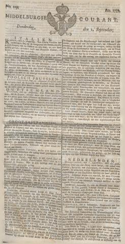 Middelburgsche Courant 1779-09-02