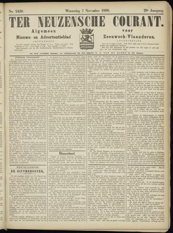 Ter Neuzensche Courant. Algemeen Nieuws- en Advertentieblad voor Zeeuwsch-Vlaanderen / Neuzensche Courant ... (idem) / (Algemeen) nieuws en advertentieblad voor Zeeuwsch-Vlaanderen 1888-11-07