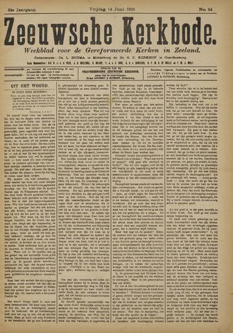 Zeeuwsche kerkbode, weekblad gewijd aan de belangen der gereformeerde kerken/ Zeeuwsch kerkblad 1918-06-14