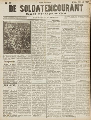De Soldatencourant. Orgaan voor Leger en Vloot 1917-07-20