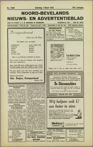 Noord-Bevelands Nieuws- en advertentieblad 1952-03-01