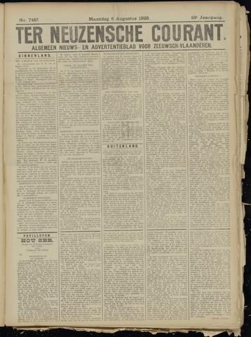 Ter Neuzensche Courant. Algemeen Nieuws- en Advertentieblad voor Zeeuwsch-Vlaanderen / Neuzensche Courant ... (idem) / (Algemeen) nieuws en advertentieblad voor Zeeuwsch-Vlaanderen 1923-08-06