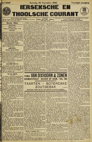 Ierseksche en Thoolsche Courant 1923-09-22