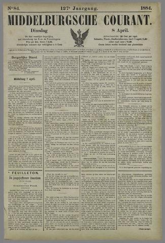 Middelburgsche Courant 1884-04-08