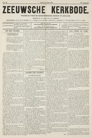 Zeeuwsche kerkbode, weekblad gewijd aan de belangen der gereformeerde kerken/ Zeeuwsch kerkblad 1939-07-14
