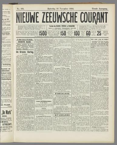 Nieuwe Zeeuwsche Courant 1914-11-14