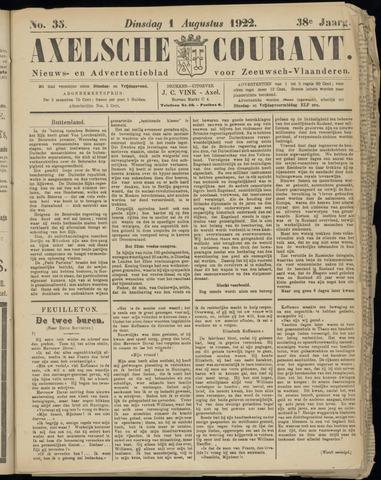 Axelsche Courant 1922-08-01