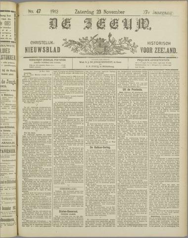 De Zeeuw. Christelijk-historisch nieuwsblad voor Zeeland 1912-11-23