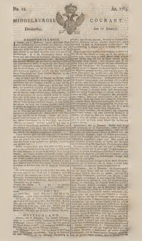 Middelburgsche Courant 1763-01-27