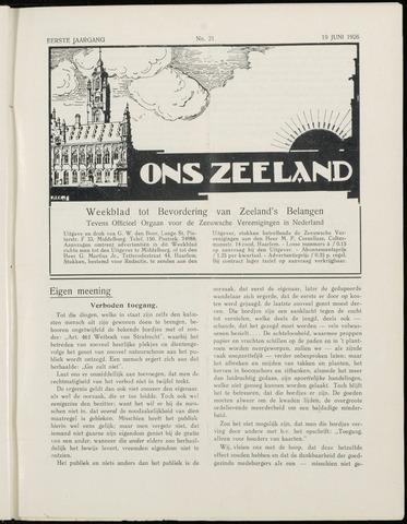 Ons Zeeland / Zeeuwsche editie 1926-06-19