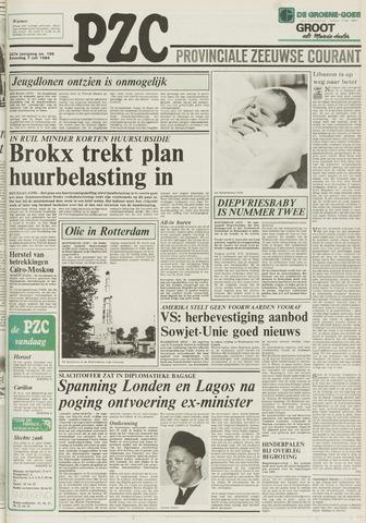Provinciale Zeeuwse Courant 1984-07-07