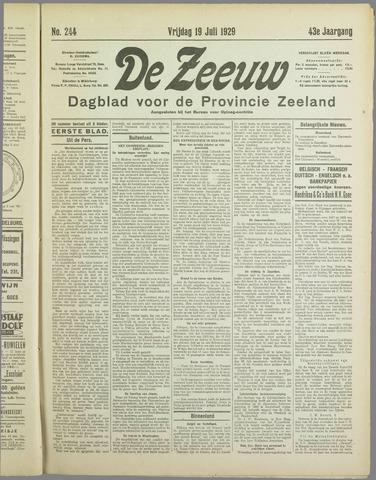 De Zeeuw. Christelijk-historisch nieuwsblad voor Zeeland 1929-07-19