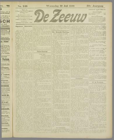 De Zeeuw. Christelijk-historisch nieuwsblad voor Zeeland 1916-07-19
