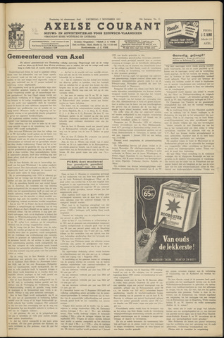 Axelsche Courant 1953-11-07