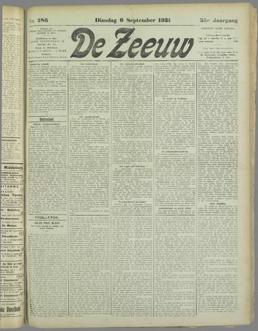 De Zeeuw. Christelijk-historisch nieuwsblad voor Zeeland 1921-09-06